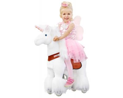 """Pony Pferd Einhorn """"Anna""""-weiß"""