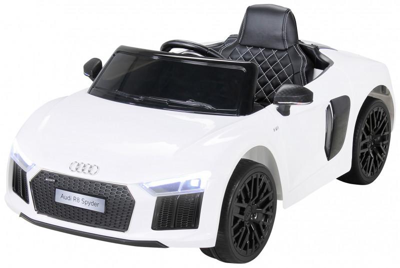 Audi R8 Spyder für Kinder, elektrisch, lizenziert (2018)-White