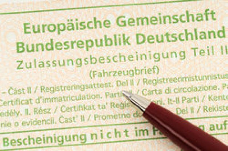 Betriebserlaubnis, Zweitschrift für Zulassungspapiere