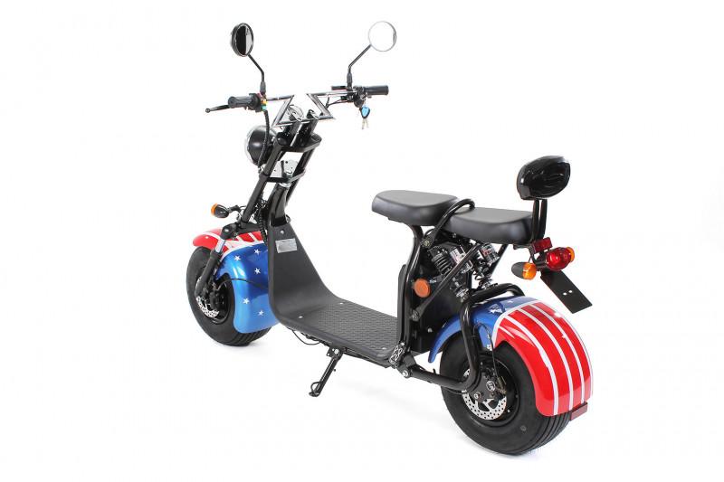 Elektro Scooter FLASH 1500 Watt 60 Volt 20 Ah mit Straßenzulassung